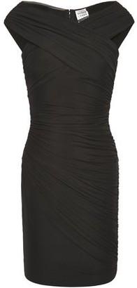 Herve Leger Off-the-shoulder Ruched Stretch-mesh Mini Dress