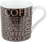 "Konitz Rose-Gold ""100% Coffee"" Mugs in Black (Set of 4)"