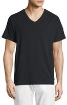Pierre Balmain Ribbed-Panel Short-Sleeve V-Neck T-Shirt, Black