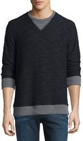 Sol Angeles Boucle Reversible Sweatshirt, Gray/Navy