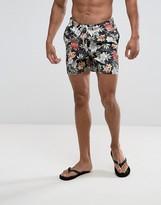 Jack and Jones Swim Shorts In Hawaiian Print