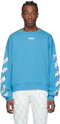 Off-White Blue Airport Tape Sweatshirt