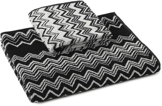 Missoni Home Keith chevron print towels (set of 2)