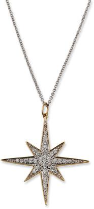 Sydney Evan 14k Diamond Starburst Pendant Necklace