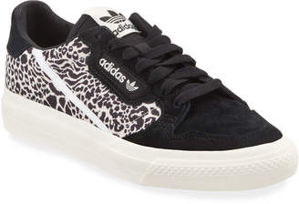 adidas Leopard-Print Suede Court Sneakers