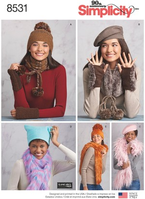 Simplicity Women's Cold Weather Accessories Sewing Pattern, 8531