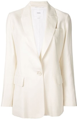 CASASOLA Fitted Single Breasted Blazer