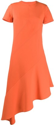 Courreges Asymmetric Midi Dress