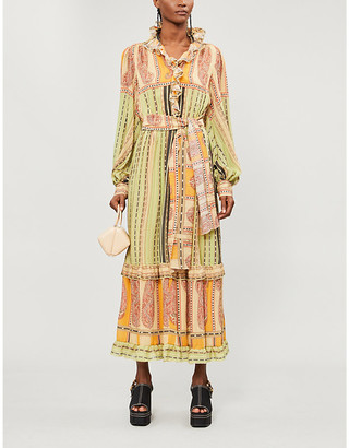 Etro Pamela graphic-print silk-crepe maxi dress