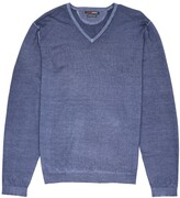 Thumbnail for your product : Romeo Merino - Merino Wool Pigment-Dyed Sport V-Neck Nightshade