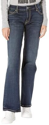 Rock and Roll Cowgirl Boyfriend Fit in Dark Wash W2-7537 (Dark Wash) Women's Jeans
