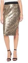 Juicy Couture All Over Floral Sequin Pencil Skirt