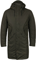 Cp Company Olive Green Hooded Down Jacket