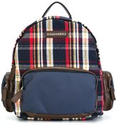 DSQUARED2 plaid backpack - kids - Cotton/Leather/Polyester/other fibers - One Size