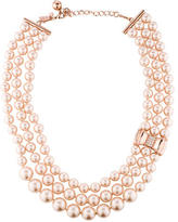 Kate Spade Multistrand Faux Pearl & Crystal Necklace
