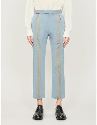 Ann Demeulemeester Contrast-stripe woven trousers