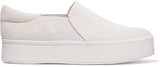 Vince Warren Woven Platform Slip-on Sneakers