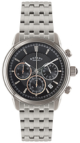 Rotary Gb02876/04 Chronograph Stainless Steel Bracelet Strap Watch, Silver/black