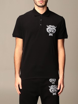 Just Cavalli Polo Shirt With Print