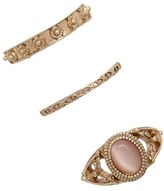 Forever 21 Faux Stone Etched Ring Set