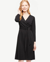 Ann Taylor Shirred Side Tie Dress