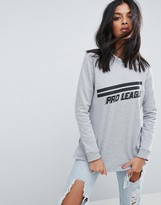 Asos Sweatshirt With Pro League Sports Motif
