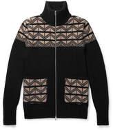 Oliver Spencer Slim-Fit Wool-Jacquard Zip-Up Sweater