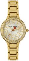 Betsey Johnson Women's Gold-Tone Bracelet Watch 32mm BJ00235-01
