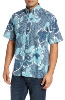 Reyn Spooner Men's Pua Fields Classic Fit Print Sport Shirt