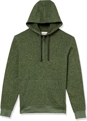 Goodthreads Amazon Brand Men's Sweater-Knit Fleece Long-Sleeve Half-Zip Hoodie