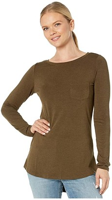 Prana Foundation Long Sleeve Tunic (Slate Heather) Women's Long Sleeve Pullover