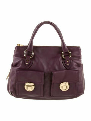 Marc Jacobs Leather Satchel Bag gold