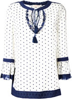 Tory Burch square dot tunic - women - Silk/Spandex/Elastane - 4