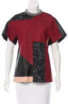 Proenza Schouler Leather-Accented Patchwork Top w/ Tags