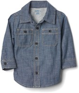 Gap 1969 Chambray Lined Shirt