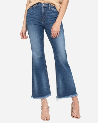 Express Flying Monkey High Waisted Ankle Flare Jeans