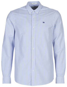 Scotch & Soda Scotch Soda NOS OXFORD SHIRT RELAXED FIT BUTTON DOWN COLLAR men's Long sleeved Shirt in Blue
