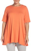 Eileen Fisher Plus Size Women's Round Neck Lightweight Jersey Top