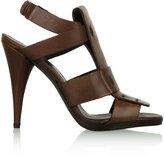 Hope Brown Leather Gladiator Heel