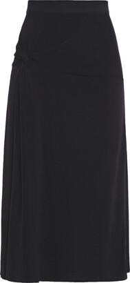 By Malene Birger Twist-front Crepe-jersey Midi Skirt