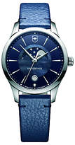 Victorinox 241794 Alliance Women's Moonphase Date Leather Strap Watch, Blue