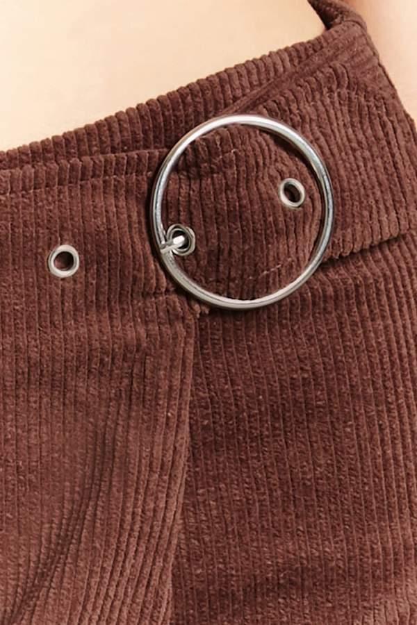 Forever 21 Belted Corduroy Mini Skirt