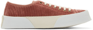 Ami Alexandre Mattiussi Pink Velour Sneakers