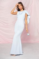 boohoo Occasion Bow Cape Detail Maxi Dress