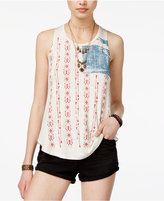 American Rag Juniors' Stars & Stripes Flag Graphic Tank Top, Only at Macy's