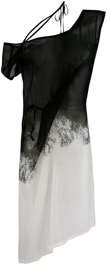 Ann Demeulemeester sheer blended dress