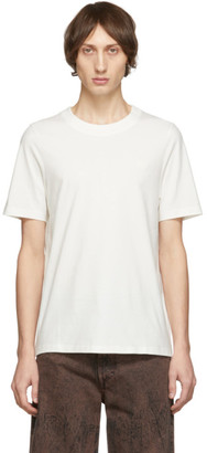 Acne Studios White Bla Konst Tiger Badge T-Shirt