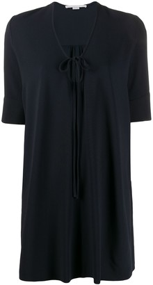 Stella McCartney key-hole neckline short-sleeved dress