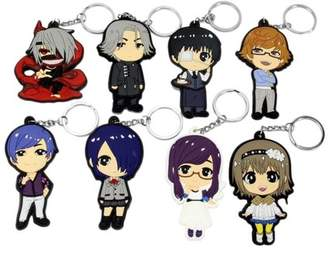 Corner Gifts Cosplay Tokyo Ghoul Anime Characters 8 PCS Keychain Key Pendant Accessories