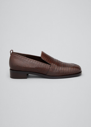 The Row Lizard Penny Loafers